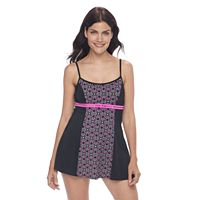 Women's A Shore Fit Hip Minimizer Printed Swimdress