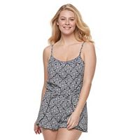 Women's A Shore Fit Hip Minimizer Printed Swim Romper
