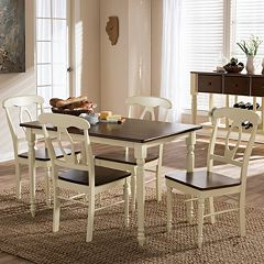 Baxton Studio Napoleon Country Cottage Dining Table & Chair 5-piece Set