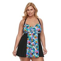 Plus Size A Shore Fit D-E Cup H-Back Swimdress
