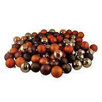 Shatterproof Ball Variety Christmas Ornament 100-piece Set
