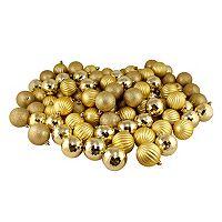 Shatterproof Ball Variety Christmas Ornament 100-piece Set