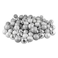 Shatterproof Ball Variety Christmas Ornament 100 pc Set