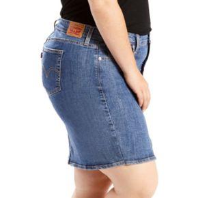 Plus Size Levi's Icon Jean Skirt