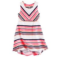 Toddler Girl Carter's Sleeveless Neon Jersey Striped Dress