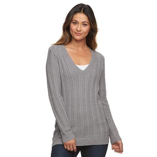 ad5d3f86e2df2c Women s Croft   Barrow® Cable-Knit V-Neck Sweater