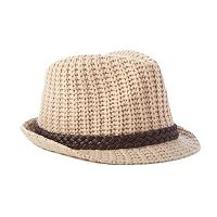 Scala Braided Trim Cable Knit Fedora