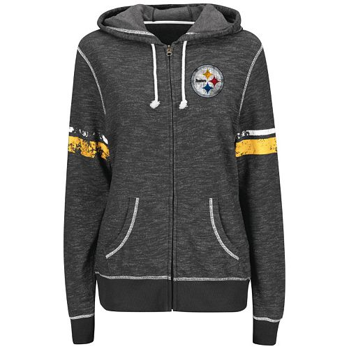 best sneakers 7b26a 38e35 Plus Size Majestic Pittsburgh Steelers Zip Hoodie