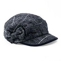 Women's Betmar Mulhouse Plaid Bow Cadet Hat