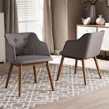 Baxton Studio Harrison Mid-Century Modern Accent Chair 2-piece Set