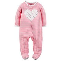 Baby Girl Carter's Print Embroidered Sleep & Play