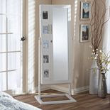 Baxton Studio Vittoria Floor Storage Jewelry Armoire Cabinet