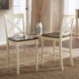 Baxton Studio Ashton Country Cottage Counter Stool 2-piece Set
