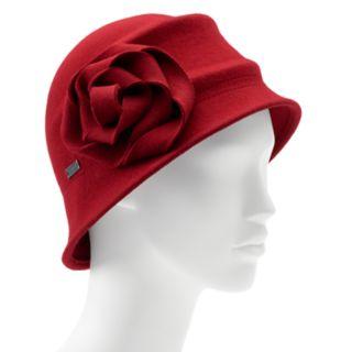 Betmar Alexandrite Felt Floral Cloche Hat