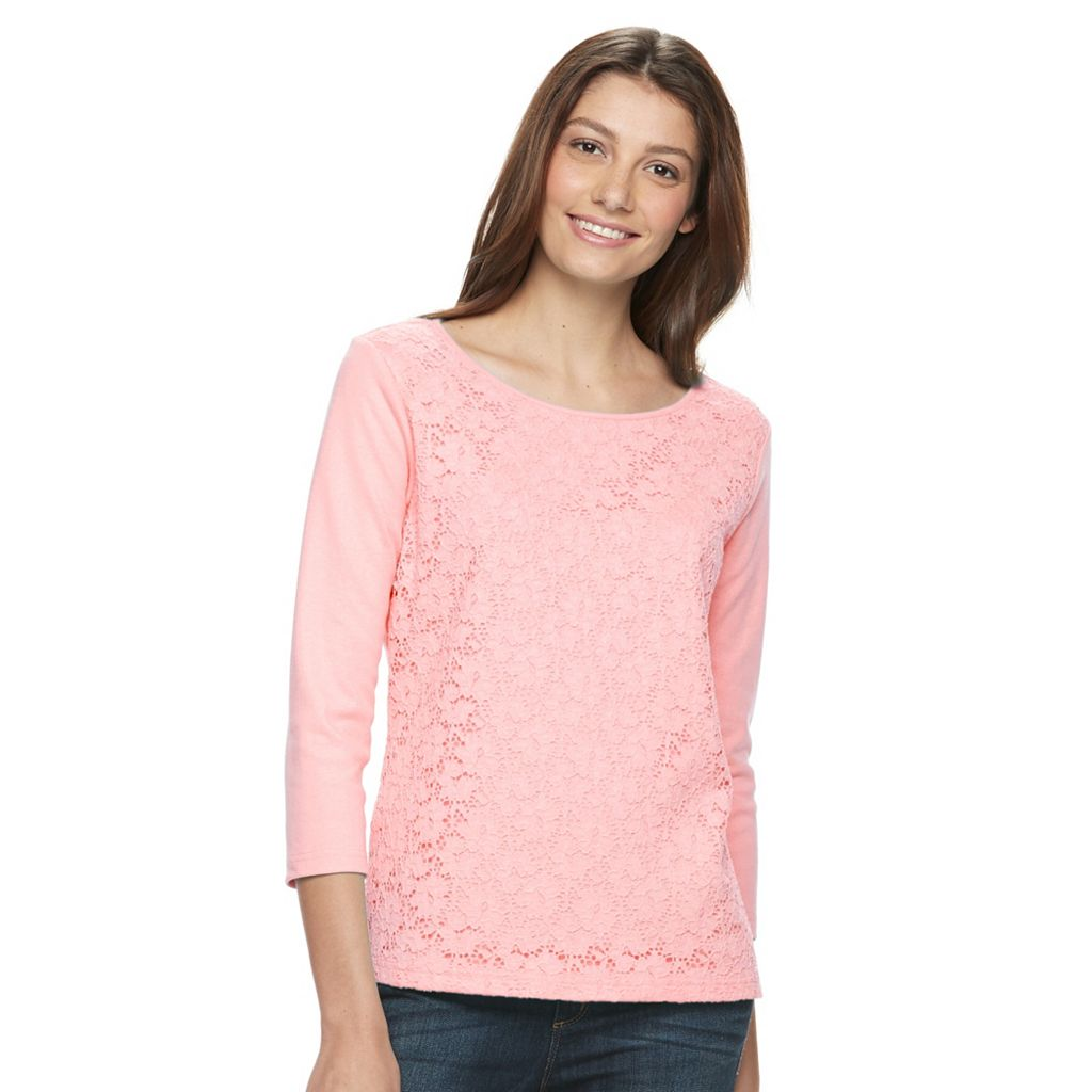 Petite Napa Valley Lace Top