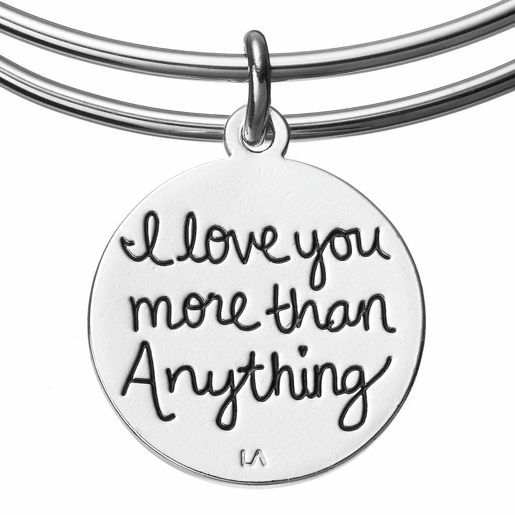 love this lifeCrystal Love Charm Bangle Bracelet