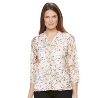 Petite Napa Valley Print Lace Top with Tank