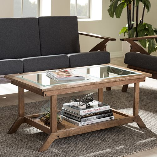 Baxton Studio Cayla Mid Century Modern Coffee Table