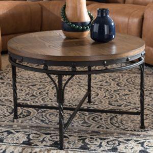 Baxton Studio Austin Industrial Round Coffee Table
