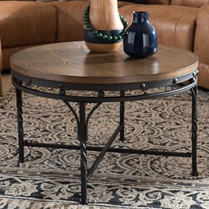 Baxton Studio Austin Industrial Round Coffee Table