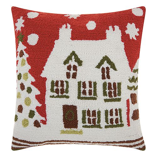 Mina Victory Home for the Holidays House Throw Pillow