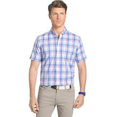 Big & Tall IZOD Advantage Classic-Fit Plaid Stretch Button-Down Shirt