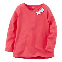 Baby Girl Carter's Long Sleeve Bow Embellished Tee