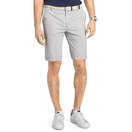 Big & Tall IZOD Saltwater Classic-Fit Solid Flat-Front Chino Shorts