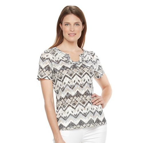 Petite Napa Valley Chevron Burnout Tee