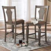 Baxton Studio Arianna Country Cottage Counter Stool 2-piece Set