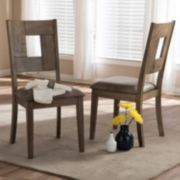 Baxton Studio Gillian Shabby Chic Dining Chair 2-piece Set