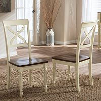 Baxton Studio Ashton Country Cottage Dining Chair 2-piece Set