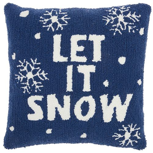 Mina Victory Home for the Holidays ''Let It Snow'' Throw Pillow