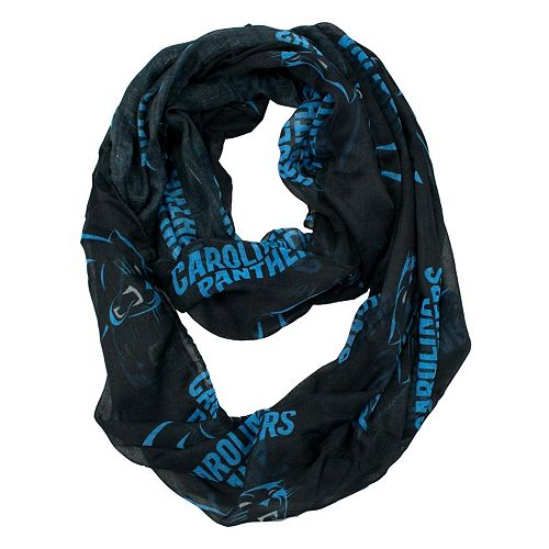 Carolina Panthers Sheer Infinity Scarf