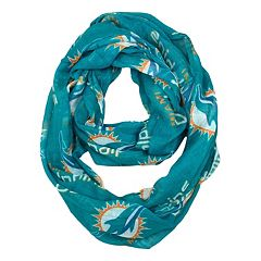 Miami Dolphins Sheer Infinity Scarf