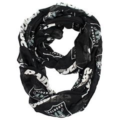 Oakland Raiders Sheer Infinity Scarf