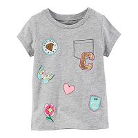 Baby Girl Carter's Gray Patch Tee
