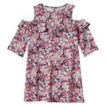 Girls 4-8 SONOMA Goods for Life™ Floral Print Cold Shoulder Ruffle Dress