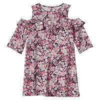Girls 4-8 SONOMA Goods for Life™ Floral Print Cold Shoulder Ruffle Dress