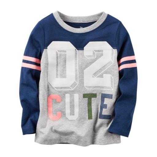 """Baby Girl Carter's """"02 Cute"""" Graphic Tee"""