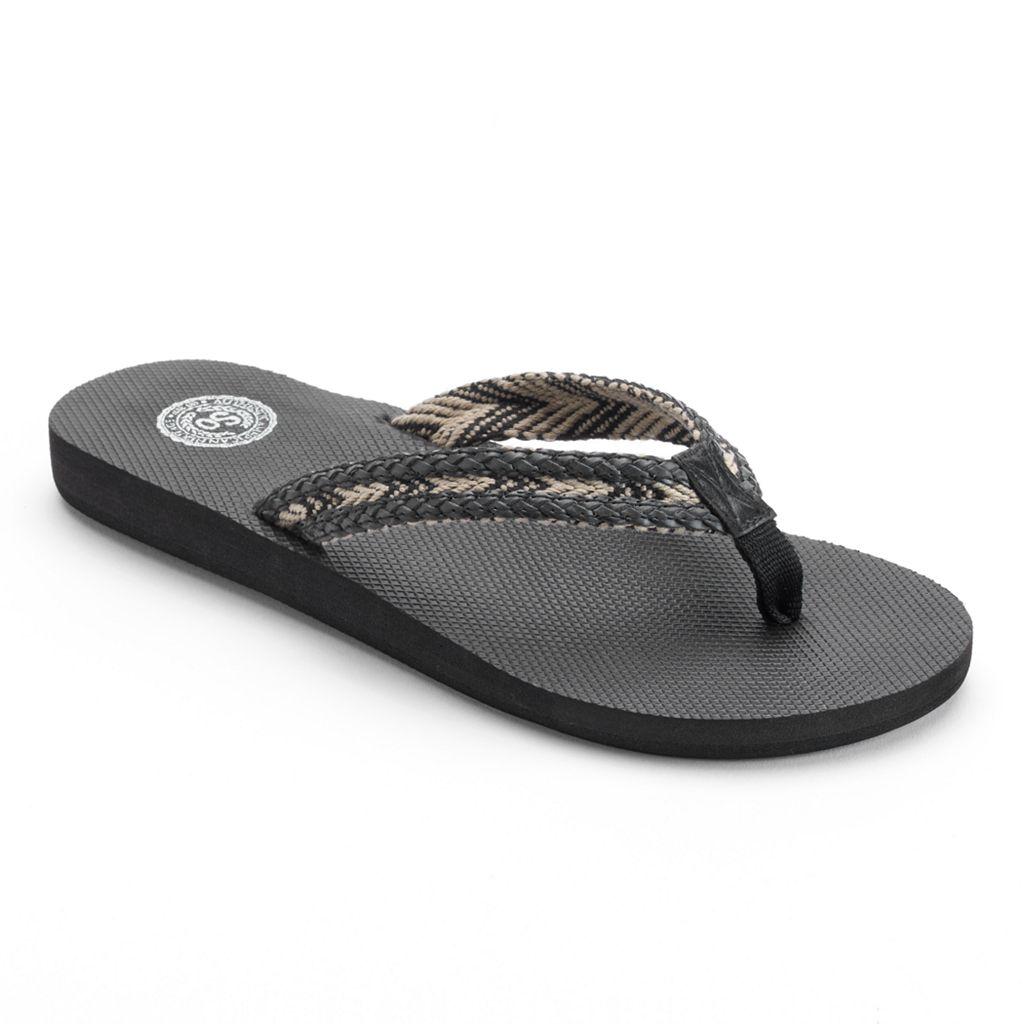 SO® Women's Braided Flip-Flops