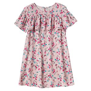 Girls 4-8 SONOMA Goods for Life™ Floral Print Ruffle Dress