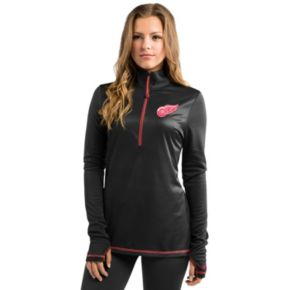 Women's Majestic Detroit Red Wings Back Check Pullover