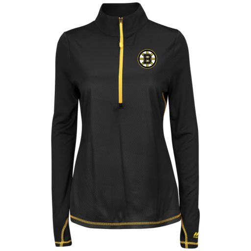 Women's Majestic Boston Bruins Back Check Pullover