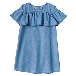 Girls 4-8 SONOMA Goods for Life™ Denim Ruffle Dress