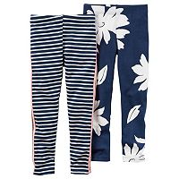 Baby Girl Carter's 2-pk. Stripe & Floral Leggings Set