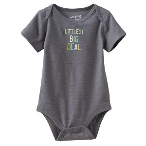 Baby Boy Jumping Beans® Embroidered Slubbed Bodysuit