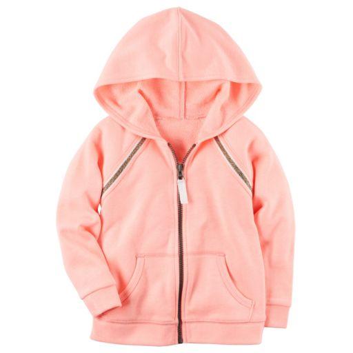 Baby Girl Carter's Neon Pink French Terry Zip-Up Hoodie