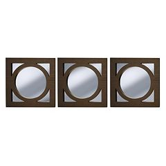 New View Circle in Square 3-piece Wall Mirror Set