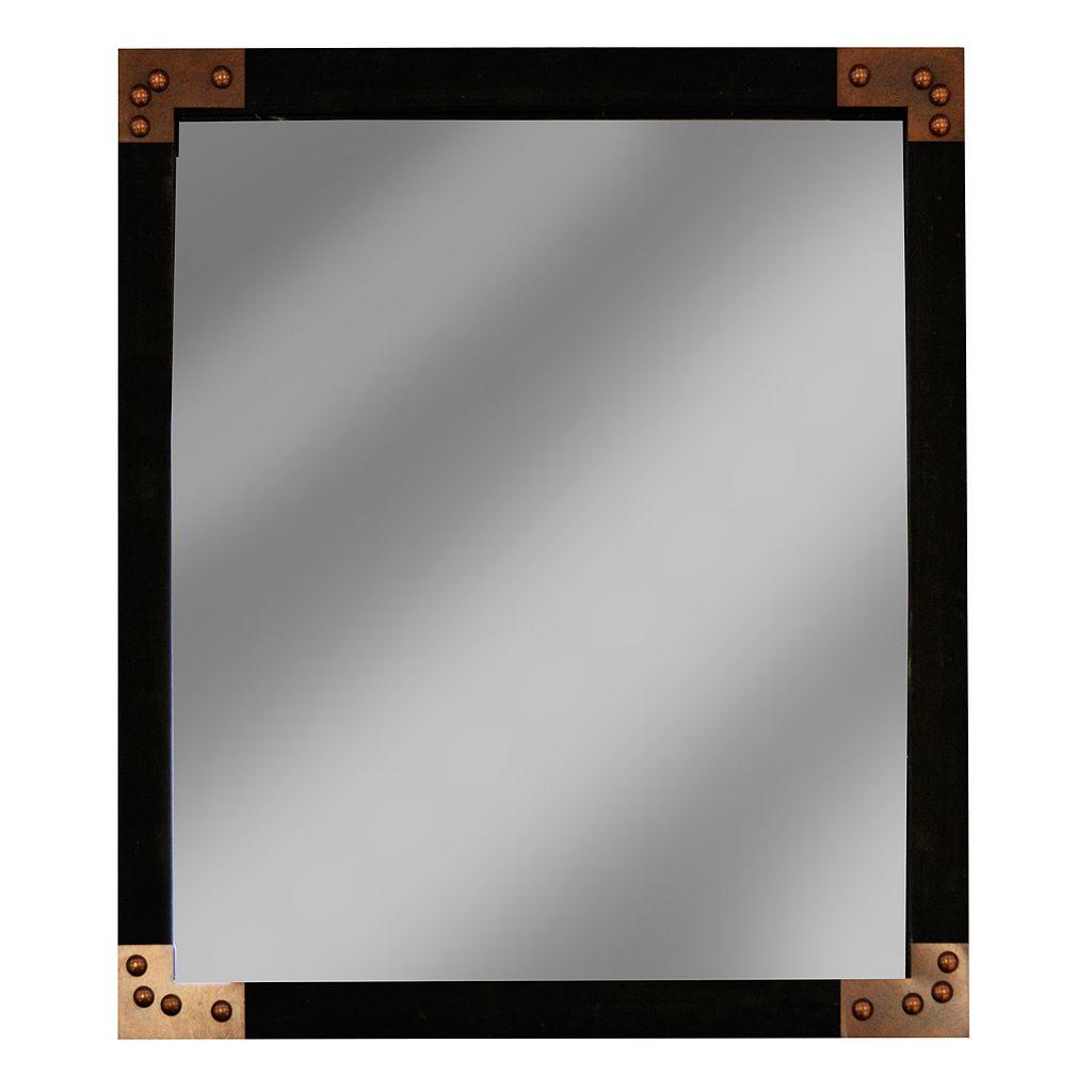 New View Metal Edged Rectangular Framed Wall Mirror